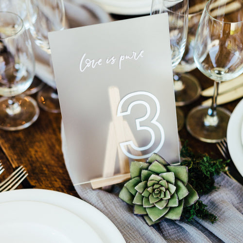 table names wedding
