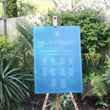 Load image into Gallery viewer, Blue Wedding Table Plan