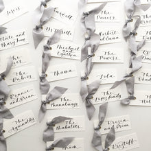 Load image into Gallery viewer, Grey Silk Place Cards