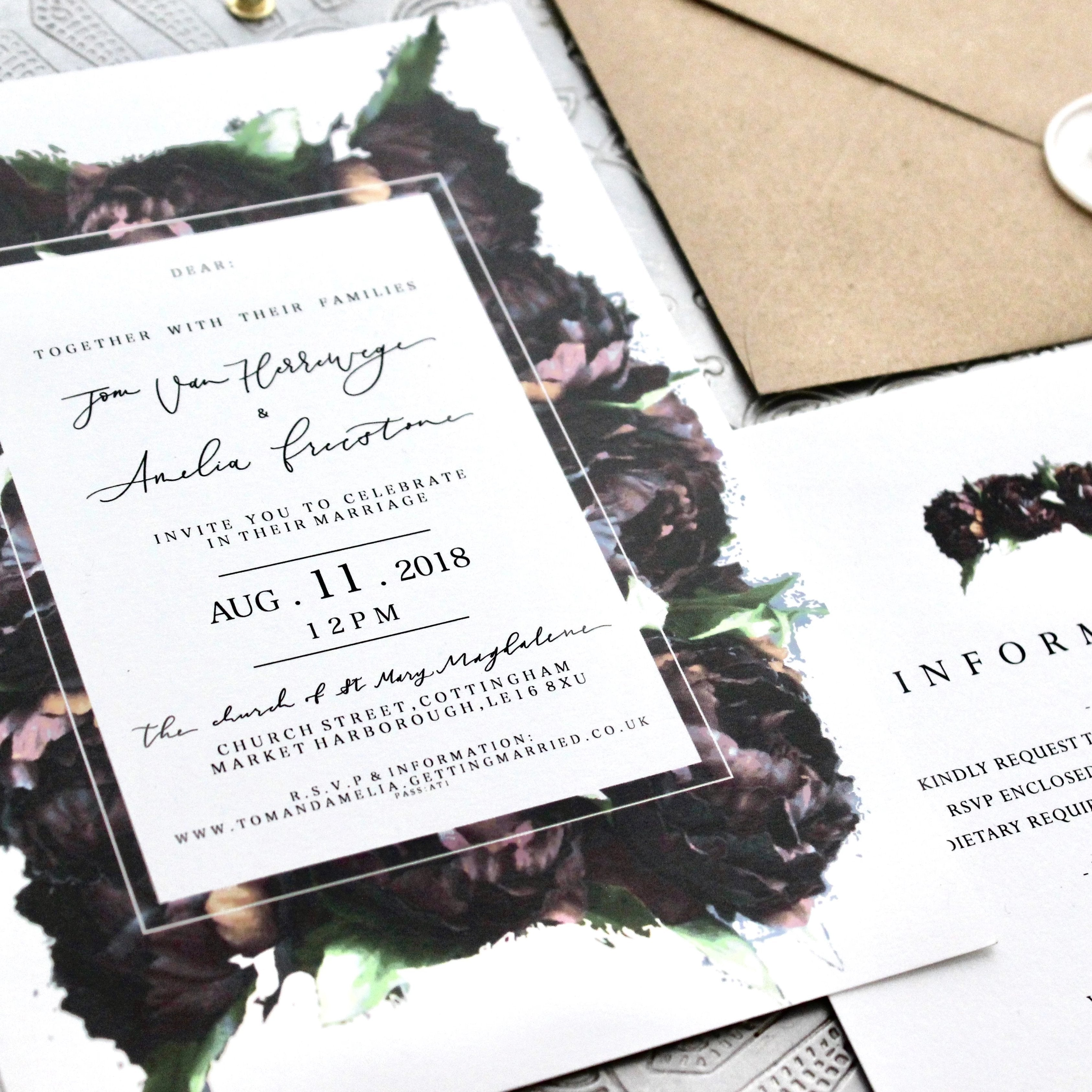 Bromwell Wedding Invitation