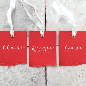Red Eyelet Place Cards