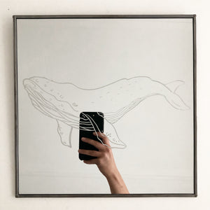 Hand Engraved Mirror - Whale