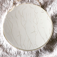 Load image into Gallery viewer, Hand Engraved Nude Circular Mirror