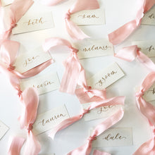 Load image into Gallery viewer, Pink Silk Place Cards