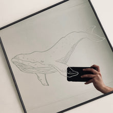 Load image into Gallery viewer, Hand Engraved Mirror - Whale