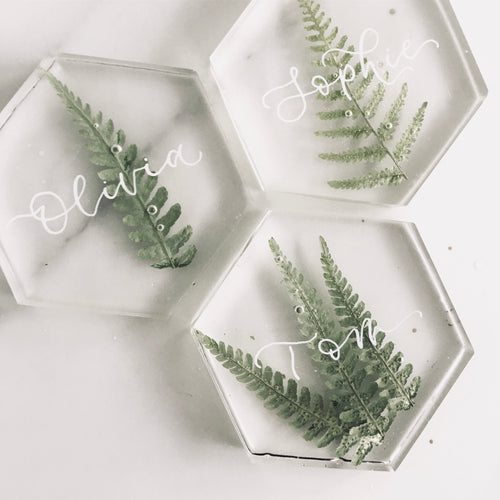 Hexagonal Resin Wedding Favours