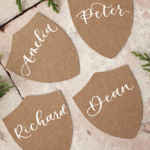 Kraft Shield Place Cards