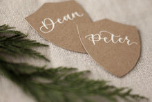 Load image into Gallery viewer, Kraft Shield Place Cards