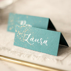 Inky Effect Place Cards