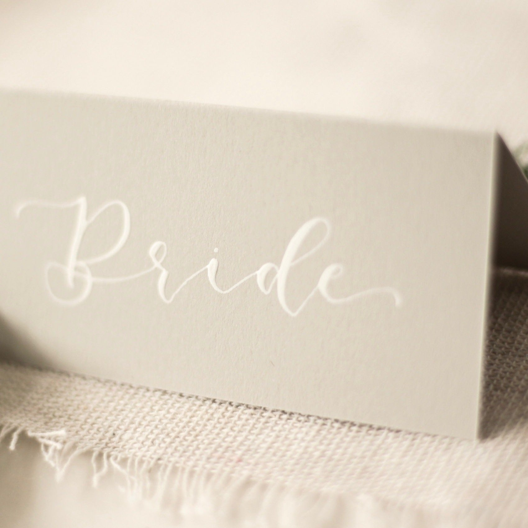 Dove Grey Place Cards