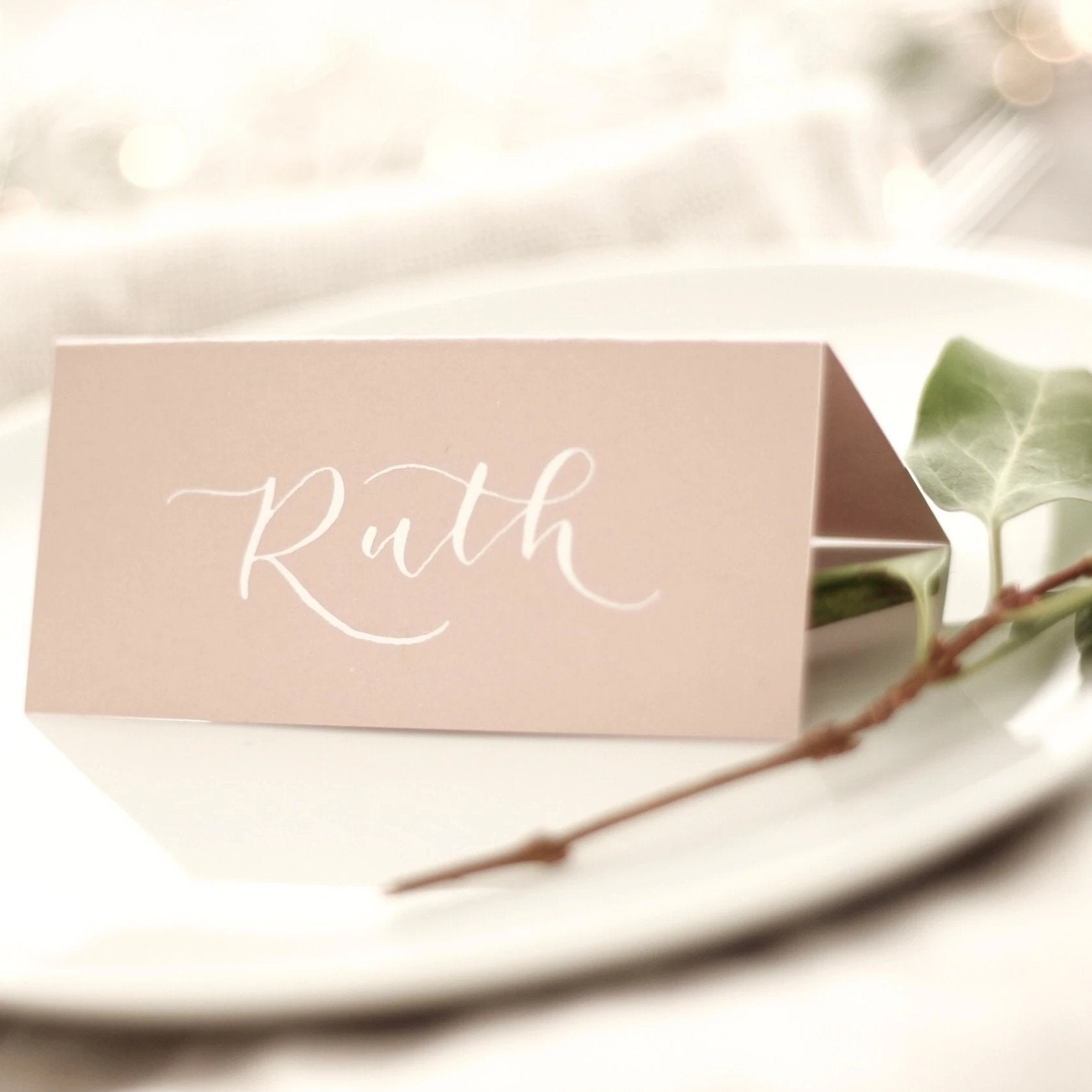 Blush Pink Place Cards