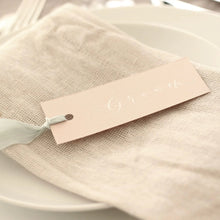 Load image into Gallery viewer, Blush Pink Wedding Place Cards