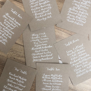 Kraft Table Plan Cards