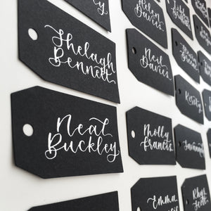 luggage tag style place cards