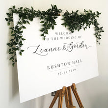 Load image into Gallery viewer, Wedding Welcome Sign