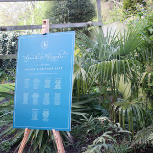 Blue Wedding Table Plan