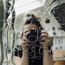Load image into Gallery viewer, Hand Engraved Modern Calligraphy Mirror