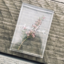 Load image into Gallery viewer, Pink Resin Personalised Wedding Favours