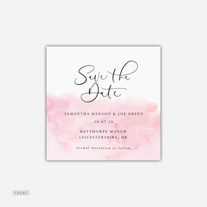 Pink Wash Save the Date