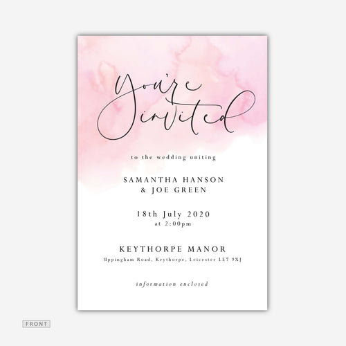 Pink Wash Invitation