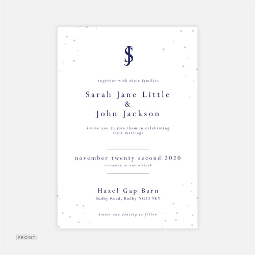 Bright Snow Wedding Invitation