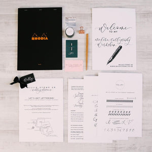 entire calligraphy kit