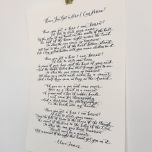 Load image into Gallery viewer, calligraphy song lyrics
