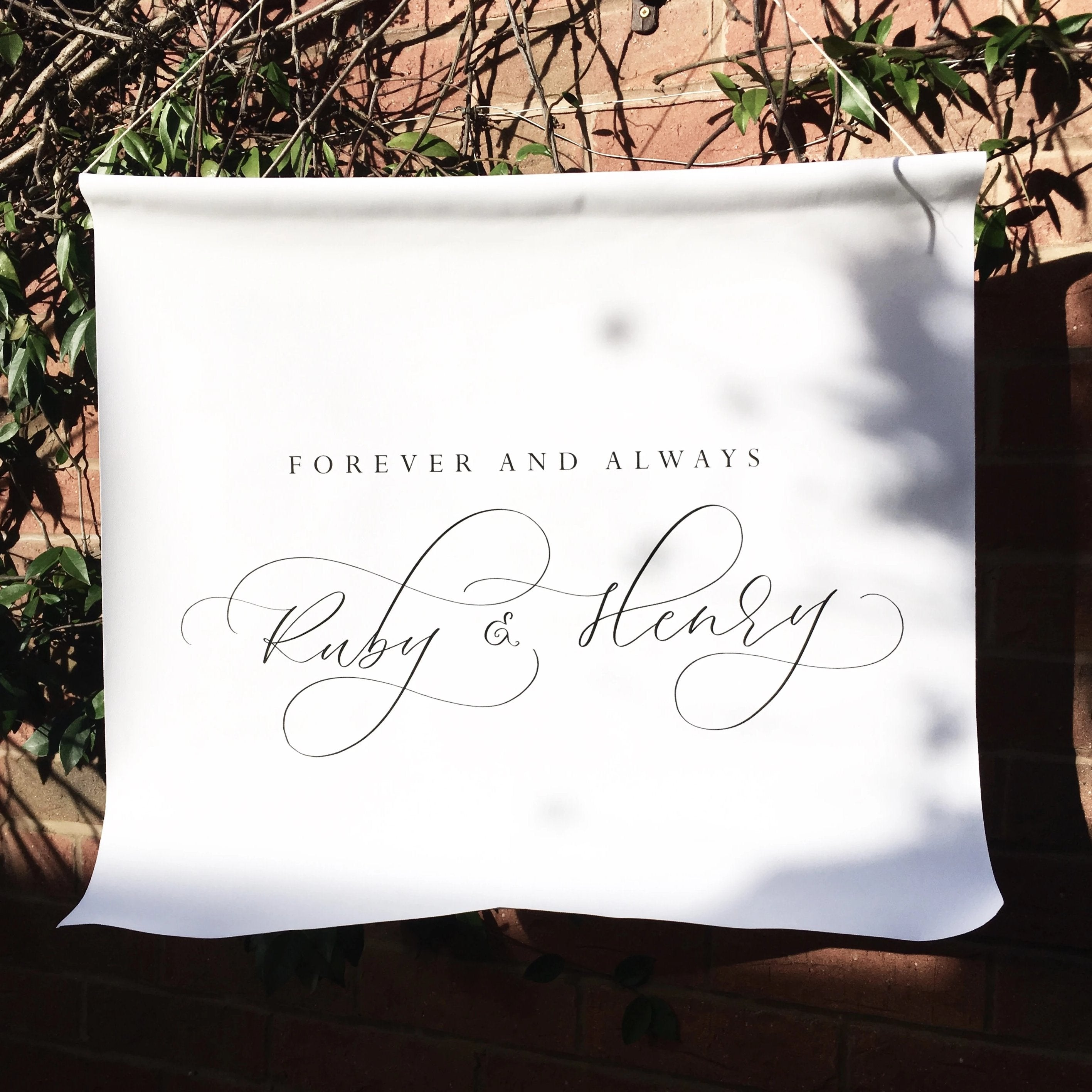 Fabric Signage - Waterproof Wedding Banner