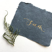 Load image into Gallery viewer, Luxury Recycled Place Cards - Dark Grey and Gold
