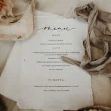 Load image into Gallery viewer, rustic wedding breakfast menu