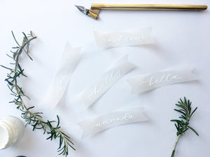 Vellum Place Cards