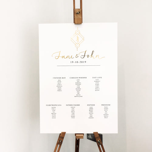Gold table plan