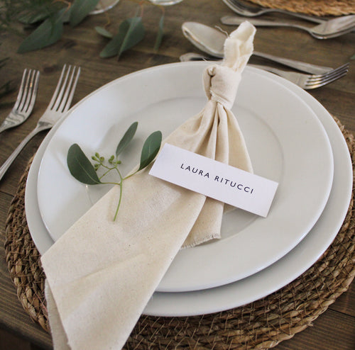 Simplistic Wedding Place Cards