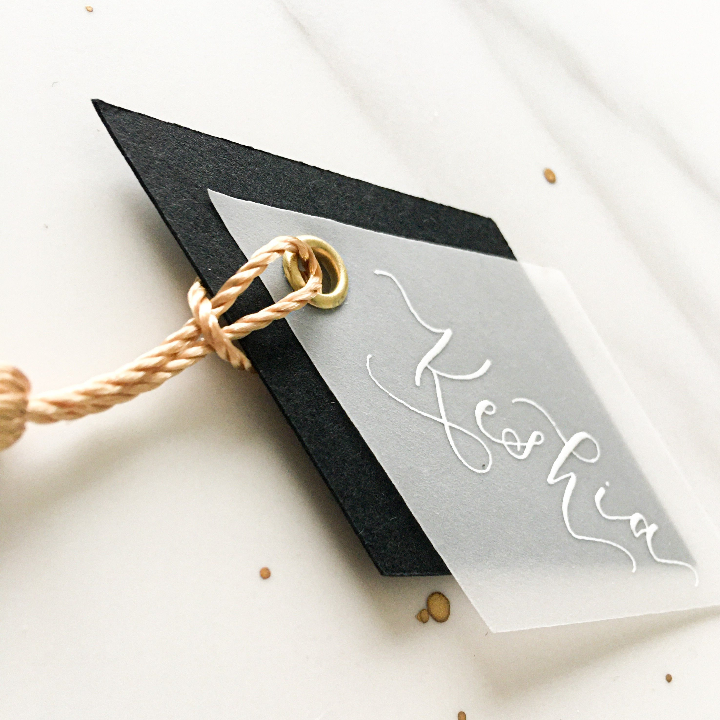 Vellum Offset Place Cards