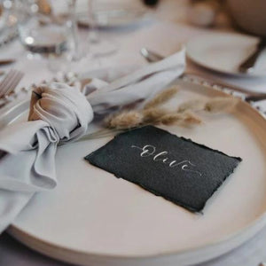 Luxury Recycled Place Cards - Dark Grey