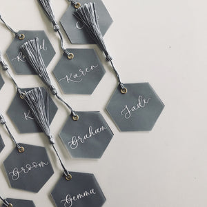 Hexagonal Vellum Place Cards