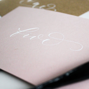 Blush Pink Table Numbers