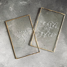 Load image into Gallery viewer, Luxury Perspex Gold Edge Table Numbers