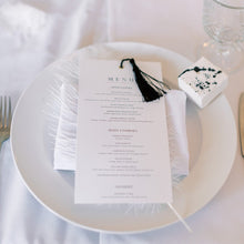 Load image into Gallery viewer, Wedding menu white
