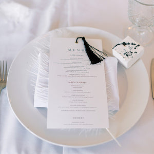 Wedding menu white