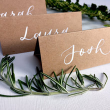 Load image into Gallery viewer, Rustic Tent Place Cards