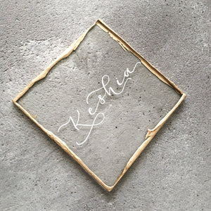 perspex wedding place names