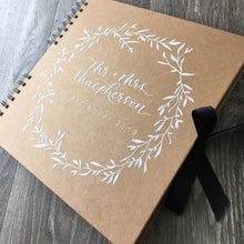 Load image into Gallery viewer, Kraft Wedding Guest Book