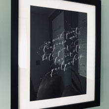 Load image into Gallery viewer, Modern calligraphy song lyrics