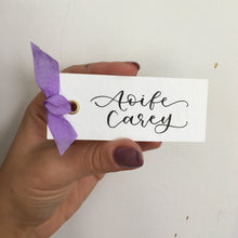 Load image into Gallery viewer, Purple Silk Place Cards