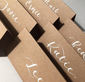 Rustic Tent Place Cards