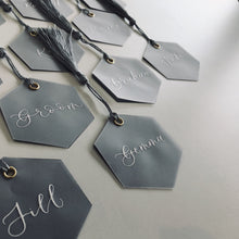 Load image into Gallery viewer, Hexagonal Vellum Place Cards