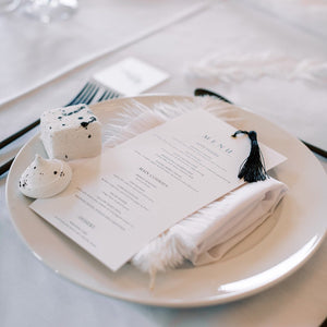 Tassel menu wedding