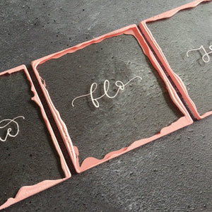 Blush & Rose Acrylic Place Cards