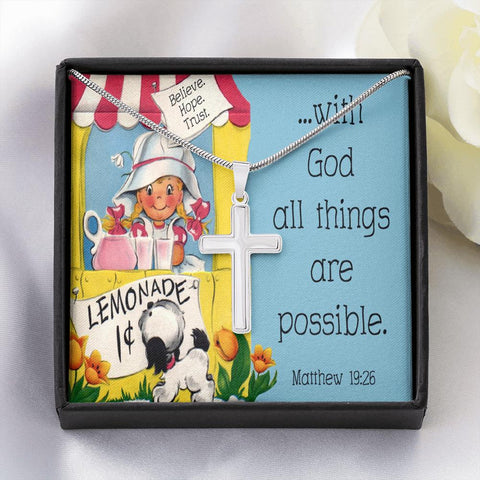 All Things Are Possible Cross Necklace Jewelry TVShowGifts